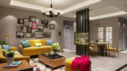 现代风格,用最洗练的笔触,描绘出最丰富动人的空间效果